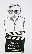 Movie Sculptures - Woody Allen Wire Art by Teodosio Sectio Aurea