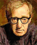 Live Art Framed Prints - Woody Allen Framed Print by Yury Malkov