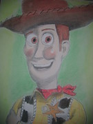 Toy Pastels Posters - Woody Poster by Paul Trewartha