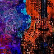 Double Bass Prints - Woody Sound Print by Jack Zulli