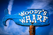Featured Art - Woodys Wharf Sign Newport Beach Picture by Paul Velgos