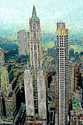 Skylines Digital Art Prints - Woolworth Building New York City 20130427 Print by Wingsdomain Art and Photography