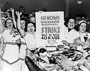 At Work Prints - Woolworth Workers Strike Print by Underwood Archives