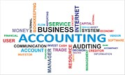 Trade Digital Art Originals - Word Cloud - Accounting by Amir Zukanovic