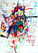 Creativity Drawings - Words of the Tzaddik 1 by David Wolk