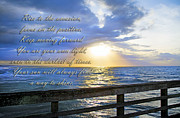 Timing Framed Prints - Words to Live By Framed Print by Betsy A Cutler East Coast Barrier Islands