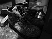 Gallary Prints - Work Boots Print by Anthony Cummigs