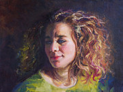 Braid Paintings - Work in Progress - Self Portrait by Talya Johnson