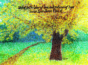 Christian Art Pastels Posters - Work of Faith Poster by Catherine Saldana