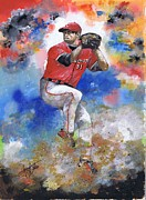 Cincinnati Paintings - Workin the Mound by Jerry Bates