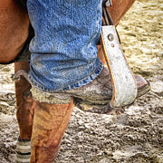 Muddy Prints - Working Boot Print by Olivier Le Queinec
