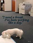 Copier Posters - Working Dog Poster by Mary Beth Landis
