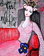 Mirko Gallery Metal Prints - Working Girl Metal Print by Mirko Gallery