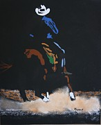 Rodeo Pastels Posters - Working Horse Poster by Michele Turney