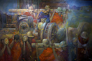 Mural Photos - Working Man Art by Al Bourassa