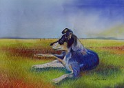 Resting Pastels Metal Prints - Working Mans Dog Metal Print by Sandra Sengstock-Miller