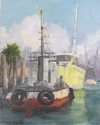 Notecards Painting Prints - Working Waterfront Print by Susan Richardson