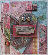 Jewelry Mixed Media Prints - Works of Heart Matrimony Print by Anita Burgermeister