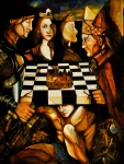 Chess Queen Painting Posters - World Chess   Poster by Dalgis Edelson