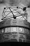 Berlin Art - world clock Weltzeituhr at Alexanderplatz showing 8 New York Washington east Berlin Germany by Joe Fox