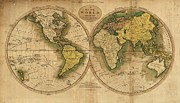 World Map Print Photo Acrylic Prints - World Map Acrylic Print by Csongor Licskai