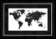 Smiley Faces Prints - World Map Smiles V Print by Daryl Macintyre