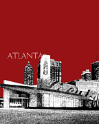Skyline Print Digital Art Metal Prints - World of Coke Museum Metal Print by DB Artist