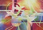 Sun Rays Painting Originals - World Peace 2 by Deborah Ronglien