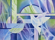 Peace Doves Framed Prints - World Peace 3 Framed Print by Deborah Ronglien