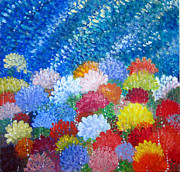 Multi Colored Paintings - World Seldom Traveled by Ellie W