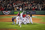 Boston Red Sox Framed Prints - World Series Game Six 5 Framed Print by Paul Treseler