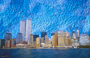 Nyc Mixed Media - World Trade Center Beforehand by Janine Garcia