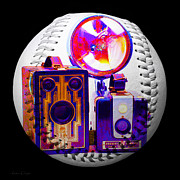 Camera Digital Art - World Travelers 2 Baseball Square by Andee Photography