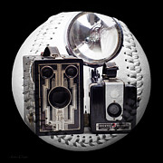 Camera Mixed Media - World Travelers Baseball Square by Andee Photography