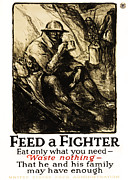 Doughboy Metal Prints - World War 1 - U. S. War Poster Metal Print by Daniel Hagerman