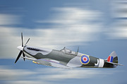 Spitfire Photos - World War 2 era British aircraft Spitfire in flight by Matthew Gibson