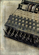 Controls Prints - World War II Enigma Secret Code Machine Print by Edward Fielding