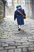 Plaited Posters - World War Two Girl Evacuee Poster by Lee Avison