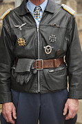 Epaulettes Prints - World War Two Nazi Gestapo Officer Print by Lee Avison
