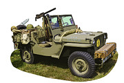 Historic Military Vehicle Posters - World War Two - Willys - Army Jeep  Poster by Keith Webber Jr