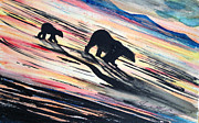 Polar Bears Paintings - Worlds End by Jeremy Martinson