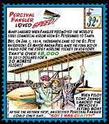 Aviator Mixed Media Posters - Worlds First Commercial Airline Flight Poster by Warren Clark