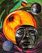 Worlds In Orbit Print by Sarah Loft
