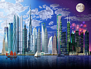 Worlds Tallest Buildings Print by Garry Walton