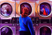 Washing Machine Digital Art Posters - Worlds Turning Poster by Brian Enright