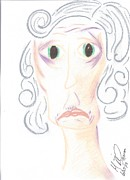 Sad Pastels Originals - Worried Age by Marie De Garo