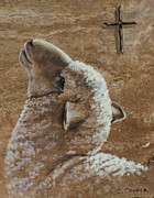 Lamb Of God Painting Posters - Worthy is the Lamb Poster by Charice Cooper