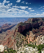 North Rim Photos - Wotan Throne Grand Canyon by Gary Eason
