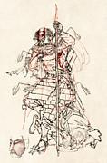 Wounded Samurai Drinking Sake C. 1870 Print by Daniel Hagerman