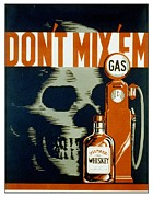 Gas Framed Prints - WPA  Vintage Safety Poster Framed Print by Wpa